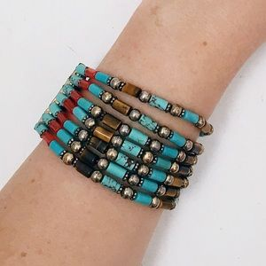 ❤️SOLD❤️ Lucky Brand Turquoise Beaded Bracelet